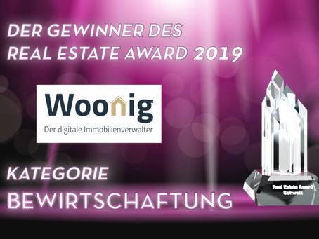 Woonig gewinnt den Real Estate Award 2019!