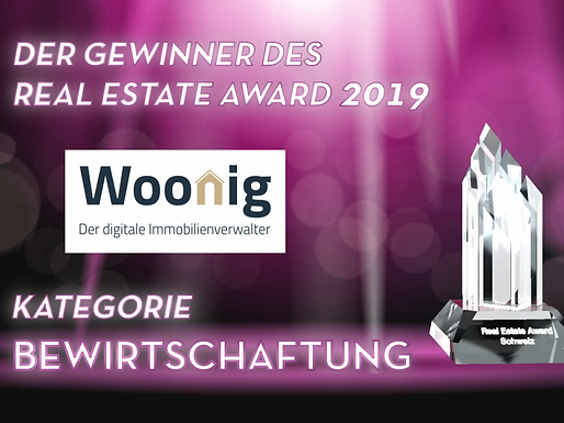 Woonig gewinnt den Real Estate Award 2019!