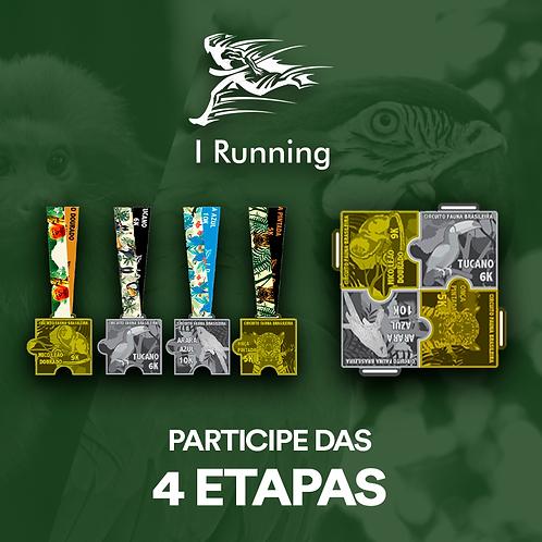 COMBO Circuito Fauna Brasileira 2020  -  Apenas Medalhas