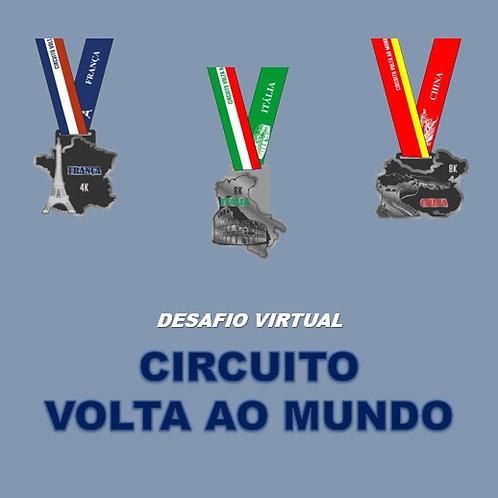 COMBO Circuito Volta ao Mundo 2020  -  Apenas Medalhas
