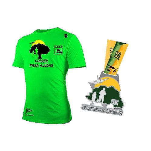CORRER PARA AJUDAR 5k (23/10/2020 a 08/11/2020) - Camiseta + Medalha