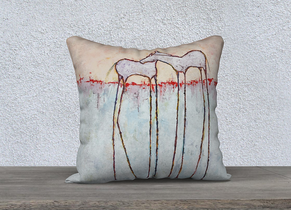 HORSES OF DREAMLAND VELVETEEN PILLOW