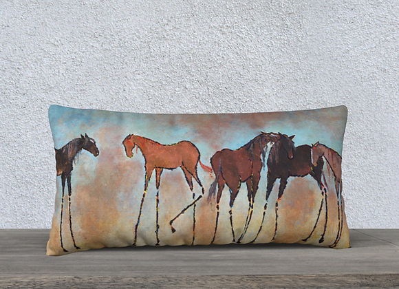 TANGLED MANES COTTON + LINEN PILLOW CASE
