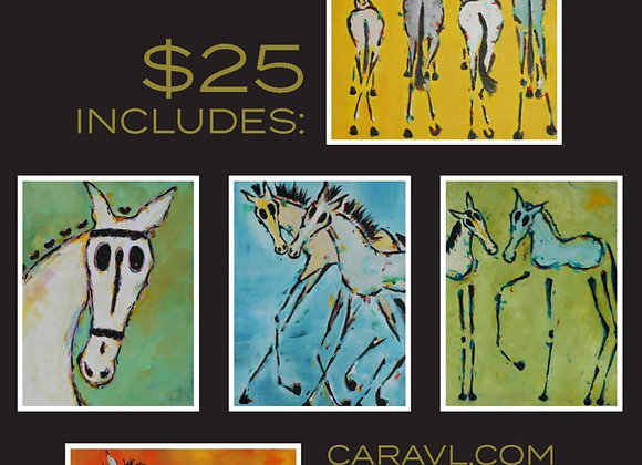 ALL THE SKINNY HORSES GREETING CARDS