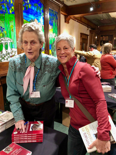 Dr. Temple Grandin signs her book for me