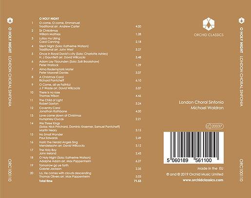 London Choral Sinfonia ORC100110 Inlay O