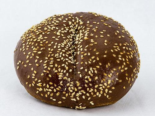 Pumpernickel Bagel with Sesame Seeds