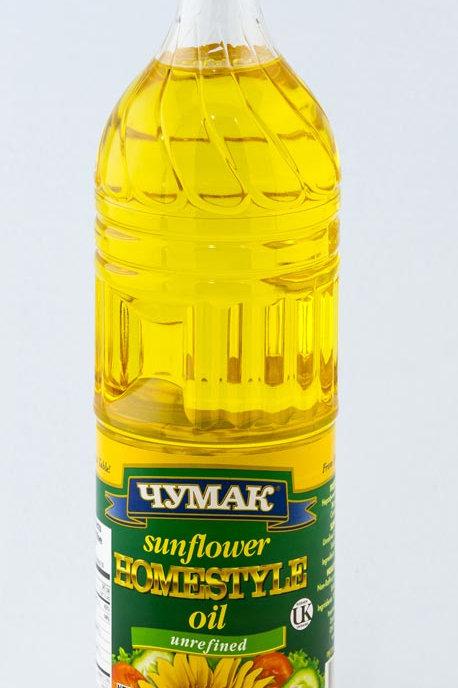 Chumak Sunflower Homestyle Oil Unrefined, 1 L