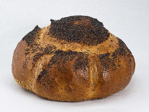 Poppy Seed Rye Bread Round