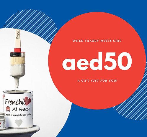 Gift Voucher: Aed50