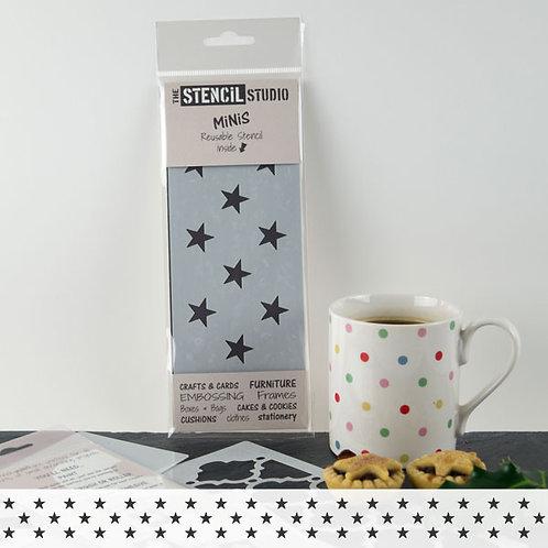 Stencil: Stars: 10.4cm x 17.9cm: Stencil Studio UK