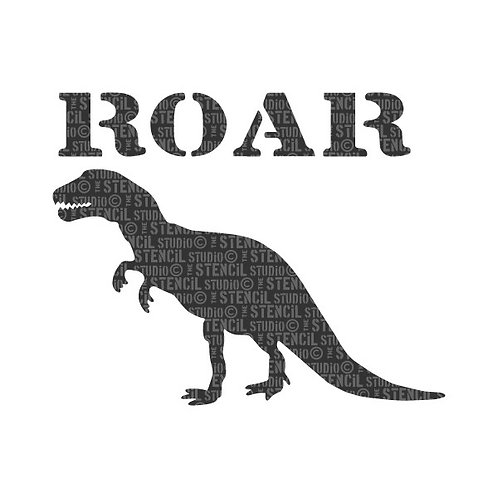 Stencil: Roar: 20.8cm x 16.6cm: Stencil Studio UK