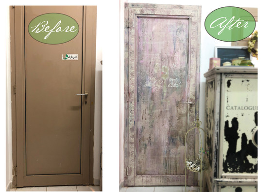 Painting Doors... How to get from trashy metal to aged grandeur.