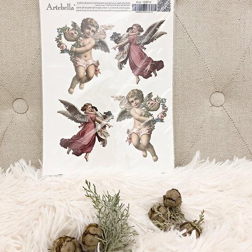 Angels & Cherubs Rub-On: Small (17cmx24cm)