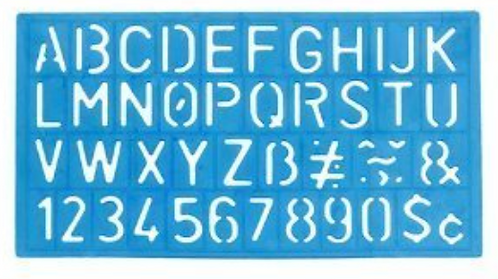 Stencil: Helix Lettering & Numbers (small)