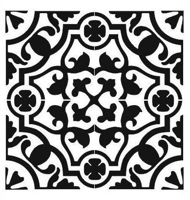 Stencil: Tile/Wall/Kitchen Backsplash: 20cm x 20cm