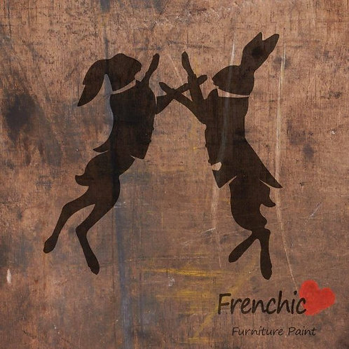 Stencil: Boxing Hares: 21cm X 29.7cm: Frenchic