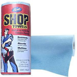 Blue Shop Towels: Scott