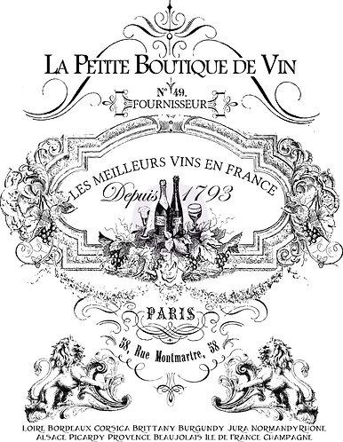Petit Vin Tall (30inch x 38.5inch)