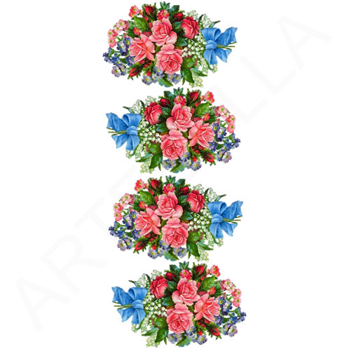 Roses Furniture Transfers: Artebella (24cm height)