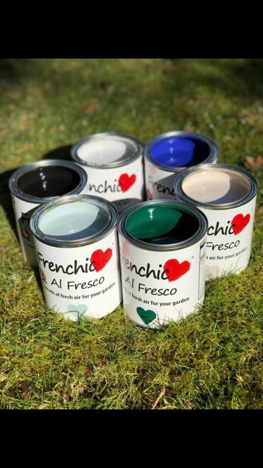 Step 2: Some of the colours from the Frenchic Al Fresco Range (the only outdoor chalk paint available in the UAE).