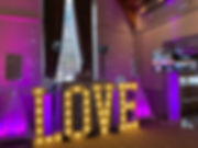Wedding DJ with elegant disco and love l