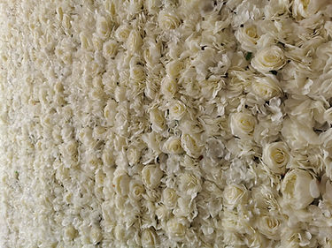 ivory white flower wall hire south wales a j Events services.jpg