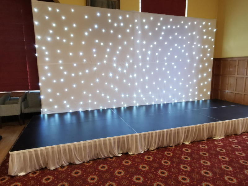 White Twinkling LED backdrop starcloth 6