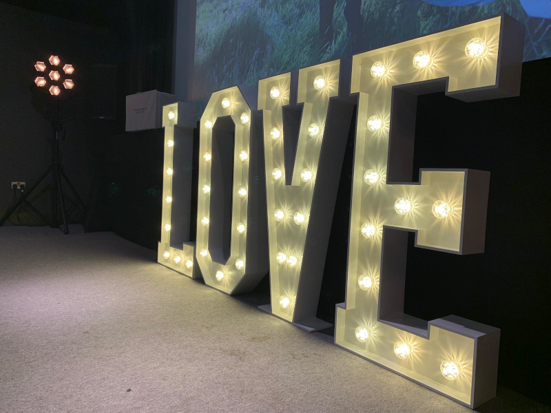 Giant Light up letters warm white