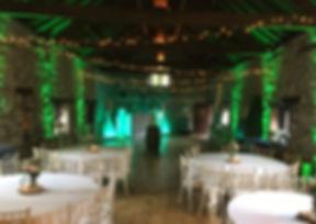 Venue Uplighters A J Wedding Events gree