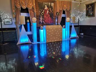 white wedding disco & DJ hire south wales blackwood caerphilly Bar.jpg
