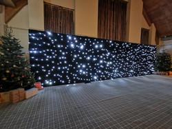 white LED starcloth black backdrop 12m x