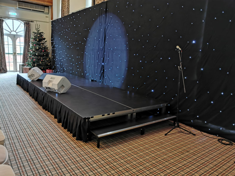 white LED starcloth black backdrop 3m x