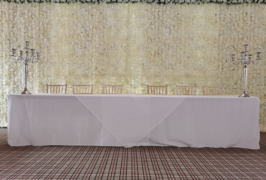 Ivory Flower wall wedding backdrop for h