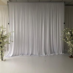 White draping hire