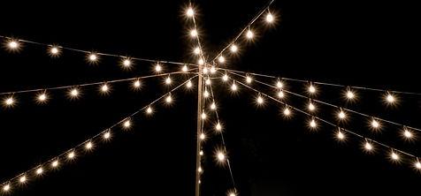 festoon/ fairy lighting hire south wales