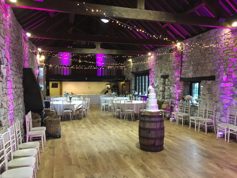Venue mood uplighters purple @ pencoed h