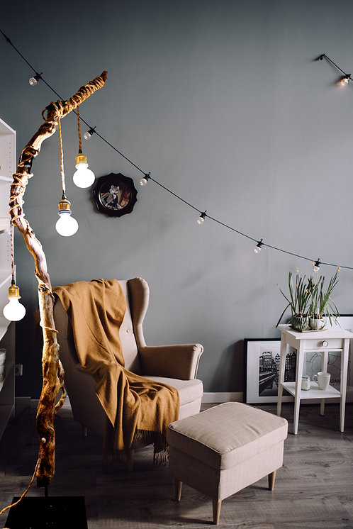 Treibholz- Stehlampe Zerberus