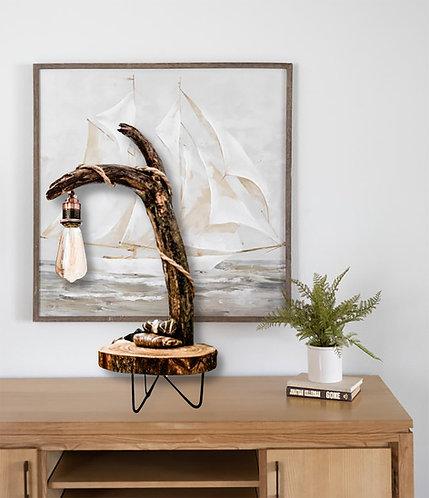 Treibholz-Tischlampe Poseidon