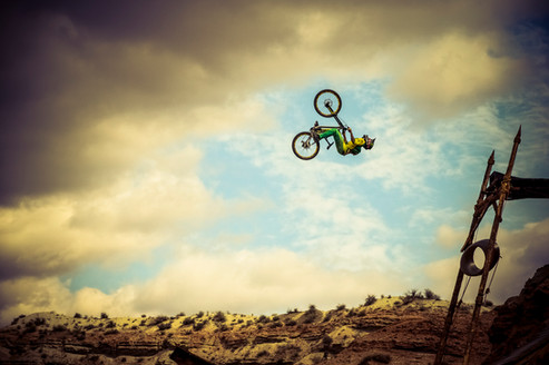 Mountain Bike Photography: Freeride mountain biker, Cam Zink | Virgin, Utah
