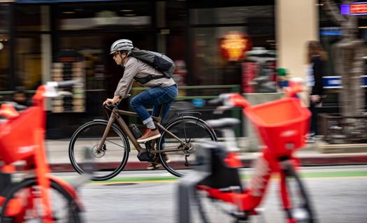 Commuter Cycling Photography | City e-bike shoot in Santa Cruz, CA