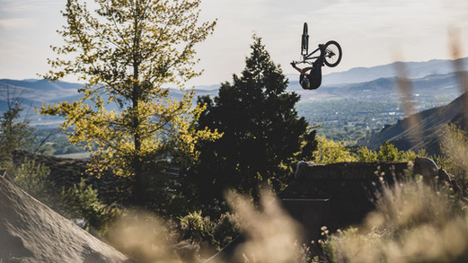 Mountain Bike Photography: Mountain biker, Greg Watts, in Carson City, NV
