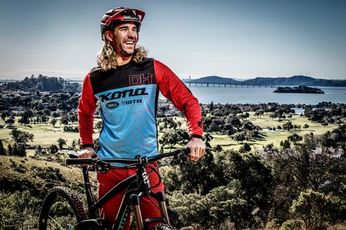 Athletic Portrait Photography | Pro mountain biker portrait