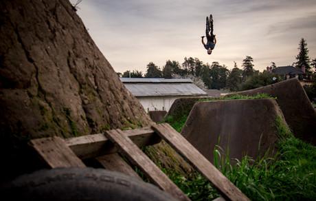 Mountain Bike Photography: Brandon Semenuk in Santa Cruz, CA.