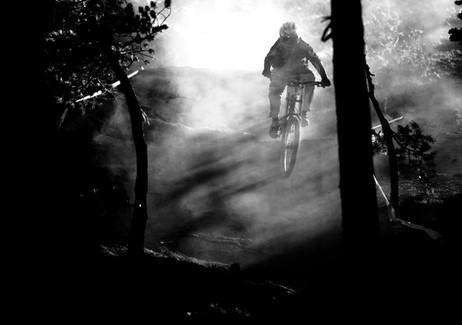 Downhill bike race at Mammoth Mountain