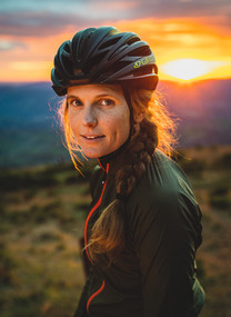 Portrait of Bikepacking Cyclist