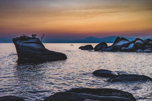 Landscape Photography | Scenic paddleboarding on Lake Tahoe, California