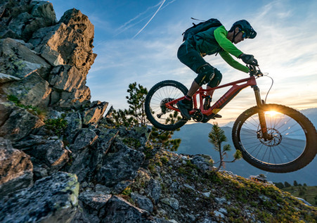 Mountain Bike Photography: Mountain biker, Ludo May, in Zinal, Switzerland