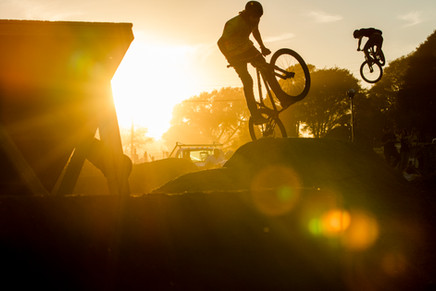 Mountain Bike Photography: Dirt jumpers in Santa Cruz, CA.