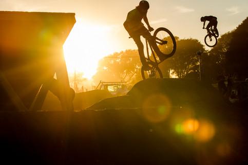 Mountain Bike Photography: Dirt jumpers in Santa Cruz, CA.